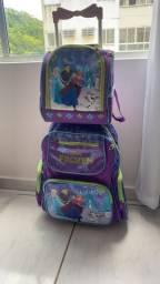 Bolsa escolar e lancheira térmica Frozen