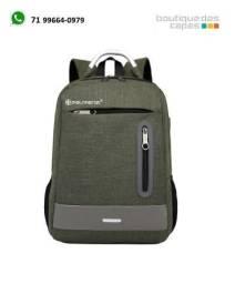Título do anúncio: 448 Mochila para Notebook MacBook  Verde Militar Style Tech até 15.6 polegadas