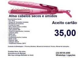 Prancha Alisadora Mondial P-16 Fashion Pink,200ºC,30W,Bivolt,Nova,Na Caixa