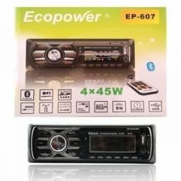 Auto Rádio Ecopower EP-607 - Bluetooth - USB - SD