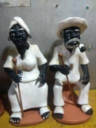 Casal de preto velho