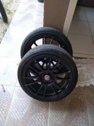 Rodas scorro s251 17 com pneus delinte novos
