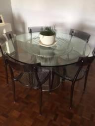 Mesa Platner Inox + Cadeiras Italianas!!