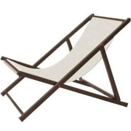 Cadeira Espreguiçadeira Jardim Dobrável Aço Carbono Ipanema