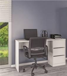 Mesa com 3 gavetas (escritório) NOVO