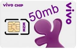 Chip M2M vivo 50MB / telemetria para rastreador