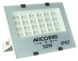 Refletor Holofote 50w Bivolt Multifocal Branco Frio Ip67 - 82173