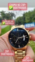 Título do anúncio: Relógio NIBOSI 100% FUNCIONAL VIDRO DE SAFIRA