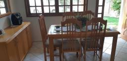 Joga de mesa, cadeiras, balcão e espelho
