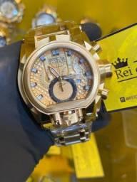 Título do anúncio: Relógio invicta Bolt Magnum dourado + entrega