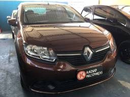 Renault Logan Expression 1.6 Flex Marrom 2014 Completo 60mil Rodado!!!