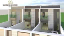 Casas duplex à venda no bairro Petrópolis, com 3 quartos sendo 2 suítes.
