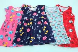 Lote com 4 vestidos infantis (2 anos)