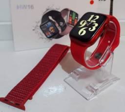 Smartwatch HW16 série6 atende chamada, c/02 pulseiras
