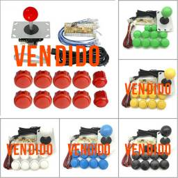 Kit arcade zero delay Sanwa genérico PC, PS3, Linux, Rasp, MAC, Android