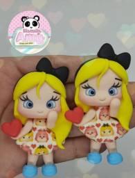 Aplique para laço Alice biscuit