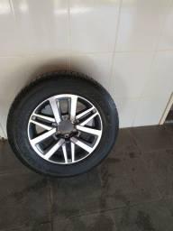 Roda aro 18 + pneu sem uso original Hilux 2017,2018