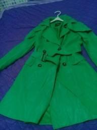 Casaco verde  feminino seminovo