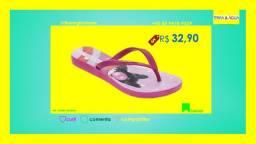 Chinelo 021800 Magenta Serigrafia Pet