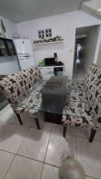 Mesa em Vidro + 6 Cadeiras
