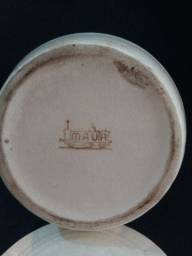 Título do anúncio: Pote de porcelana Mauá na cor bege claro.
