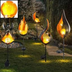 Lâmpada led com efeito de chama solar