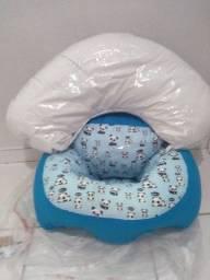 Assento para bebê e almofada de amamentação