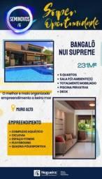 FM- Bangalô mobiliado no NUI, 5 quartos!!