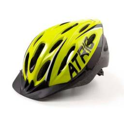 Capacete Ciclismo Mtb 2.0 com LED Traseiro Neon Atrio Tam. M- BI168