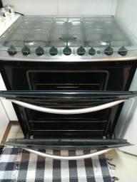 Fogão Electrolux 6 bocas com dois fornos, Grill e Timer