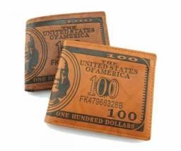 Carteira Couro Formato Dollar Oferta