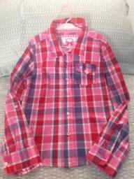 Camisa xadrez infantil para menina