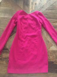 Zara: Vestido tubinho Rosa inverno P