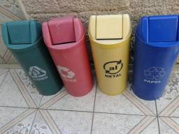 Lixeiras lixo recicláveis
