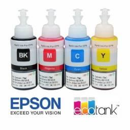 Kit de tintas corantes específico para impressoras Ecotank Série L, XP e TX (4x100ml)
