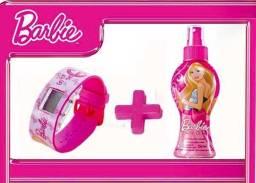 Kit Relógio e Colônia Barbie Ou Kit Meninos C/ Colônia, Shampoo e Caneca