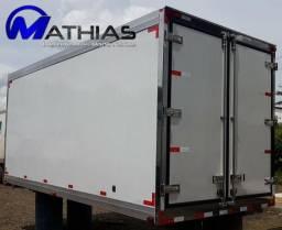 Baú para caminhão 3/4 seminovo 08 paletes Mathias Implementos