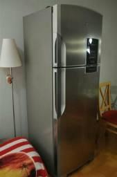 Geladeira refrigerador inox 445 L frost free GE 127v