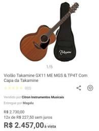 Takamine mini gx11me-ns com bag