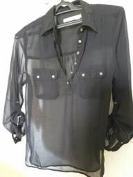 Camisa feminina transparente M