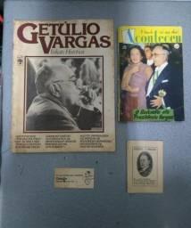 Revistas e outros itens relacionado ao presidente Júlio Vargas