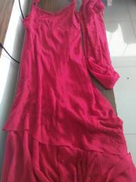 Vestido de festa longo vermelho
