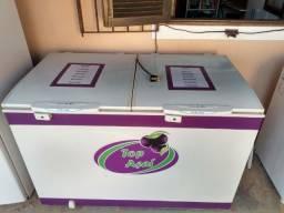 Freezer horizontal 02 portas semi novo electrolux