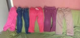 Lindas calças infantil feminina para crianças de 4 a 8 anos