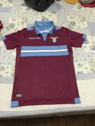 Camisa Lazio Ii 2014/15 N. 87 Candreva - Macron - Vinho/azul