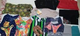 Lote de roupas femininas usadas vinte e cinco peças