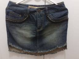 Saia jeans Clock House (36) Semi nova