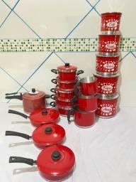 Título do anúncio: Kit de panelas de alumínio de várias modelos
