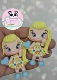 Aplique para laço Elsa frozen biscuit