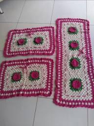 Jogo de tapete de crochê (novo)
